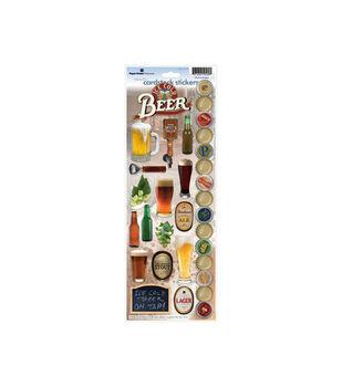 Paper House Cardstock Stickers-Beer