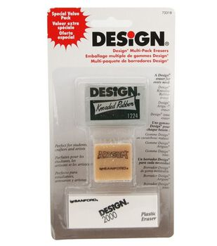 Sanford Design Art Erasers 3Pk