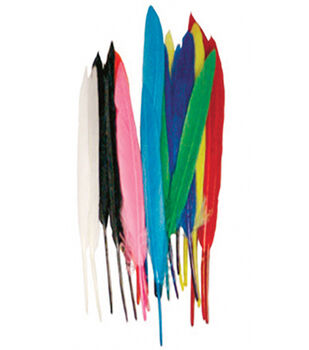 Midwest Design Mini Indian Feathers 24/Pkg-Assorted Colors