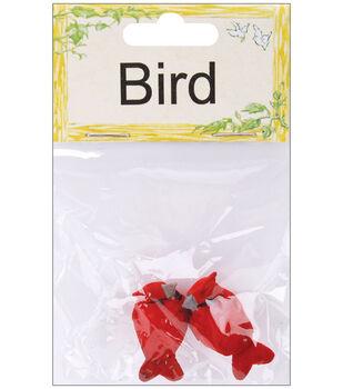 "Mushroom Birds 1""-Cardinal"