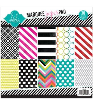"Heidi Swapp Patterned Paper Pad 8.5""X8.5"" 30/Pkg-Marquee Love"