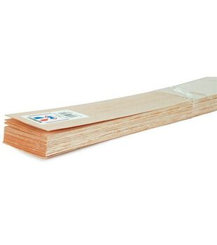 """Balsa Wood 36'' Sheets-20PK/1/8""""X1"""""""