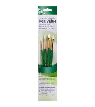 Real Value Brush Set White Taklon
