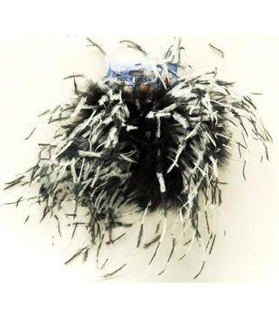 Ostrich Feather Elastic Cuffs-Black & White