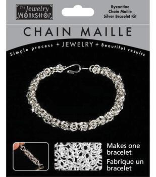 The Jewelry Workshop Chain Maille Jewelry Kit-Byzantine Bracelet-Silver