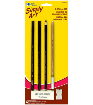 Simply Art Charcoal Set-4 Pieces