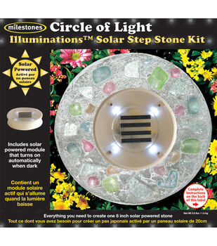 Mosaic Stepping Stone Kit-KIDS DAISY NIGHT GLO ILLUMINATIONS SOLAR