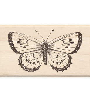 "Mounted Rubber Stamp 1.75""X3""-Big Butterfly"