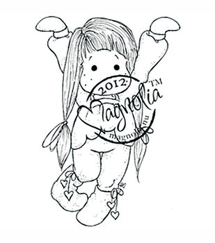 With Love Cling Stamp-Tilda With Heart Sock