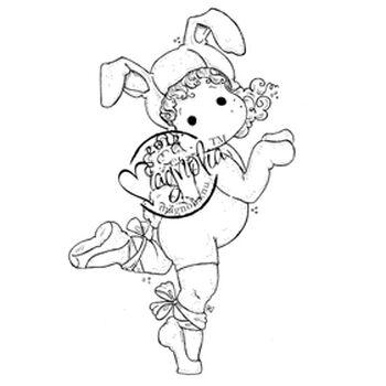 Magnolia Little Easter Cling Stamp Ballerina Bunny Tilda
