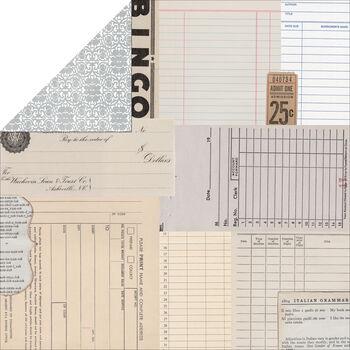 Teresa Collins Summer Stories Ephemera Double-Sided Cardstock 12''x12''