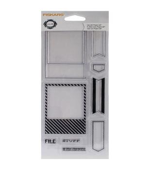 "Fiskars Teresa Collins 4""X8"" Clear Stamps- Frames"
