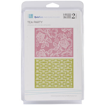 We R Memory Keepers Goosebumpz A2 Embossing Folders Tea Party