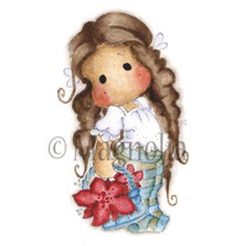 Magnolia Winter Wonderland Cling Stamp Merry Christmas Tilda