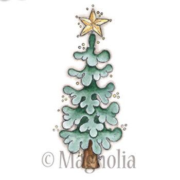 Magnolia Winter Wonderland Cling Stamp Peaceful Christmas Tree