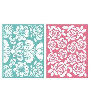 We R Memory Keepers Goosebumpz A2 Embossing Folders Floral