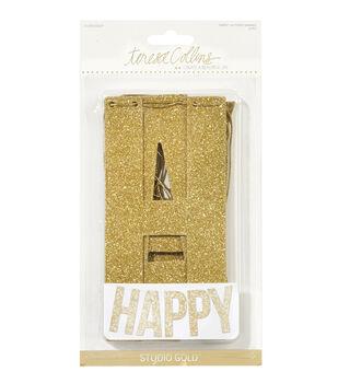 Teresa Collins Studio Gold Happy Glittered Banner