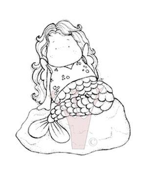 Magnolia Fall Cling Stamp Tilda as Mermaid