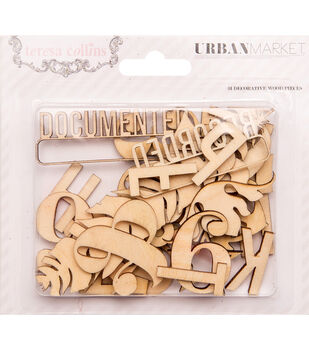 Urban Market Laser-Cut Wooden Shapes 31/Pkg-