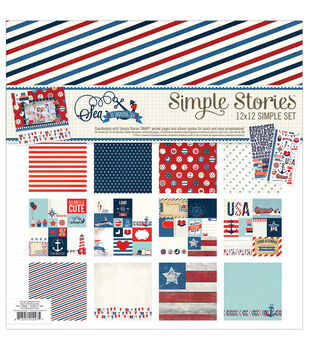 """Simple Stories Simple Sets Collection Kit 12""""X12""""-Sea To Shining Sea"""