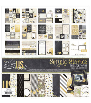 """Simple Stories Collection Kit 12""""X12""""-The Story Of Us"""