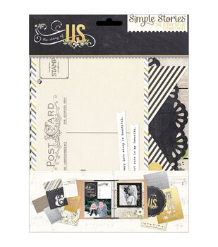 """Sn@p! Double-Sided Journal Pages 6""""X8""""-The Story Of Us"""