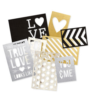 """Sn@p! Cuts 8/Pkg-The Story Of Us (4) 4""""X6"""" & (4) 3""""X4"""""""