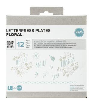 Lifestyle Letterpress Plates-Floral