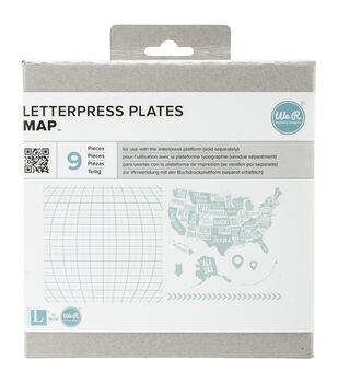 Lifestyle Letterpress Plates-Map