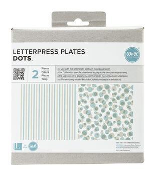 Lifestyle Letterpress Plates-Dots