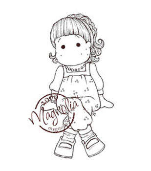 """A Little Yummy For Your Tummy Cling Stamp 6.5""""X3.5"""" Package-Dinner Tilda"""