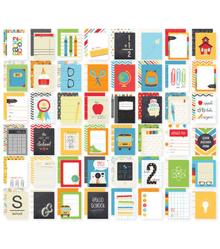 Simple Stories Sn@p! School Double-Sided Card Pack 48 cards
