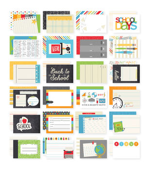 Simple Stories Sn@p! School Double-Sided Card Pack 24 cards