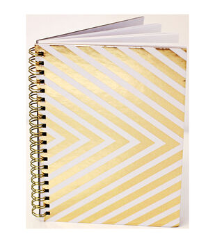 """Teresa Collins Studio Gold Notebook 5""""X7""""-80 Lined Pages"""