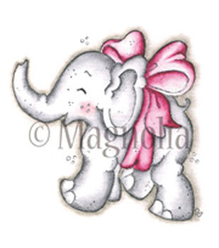 """Lost & Found Cling Stamp 6.5""""X4"""" Package-Little Trumpety W/Bow"""