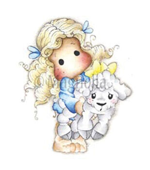Magnolia Animal Of The Year Tilda With Elsie The Lamb Cling Stamp