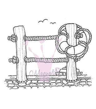 Magnolia Lazy Summer Days Pier Background Cling Stamp