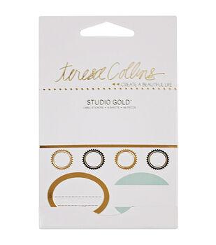 Teresa Collins Studio Gold Label Stickers 66/Pkg