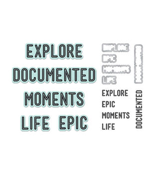 """Lifestyle Dies & Stamps Set-Moments, 1.2""""X.6"""" To 3.7""""X.7"""""""