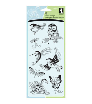 Inkadinkado® Clear Stamps-Patterned Birds & Bugs