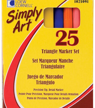 Simply Art Triangle Marker Set 25Pk-Assorted Colors