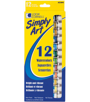 Simply Art Watercolor Paint 12ml 12Pk-Assorted Colors
