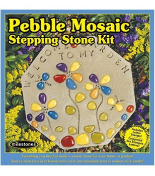 Milestones Pebble Tile Mosaic Stepping Stone Kit