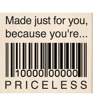 Rubber Stamp K-Just For You Priceless
