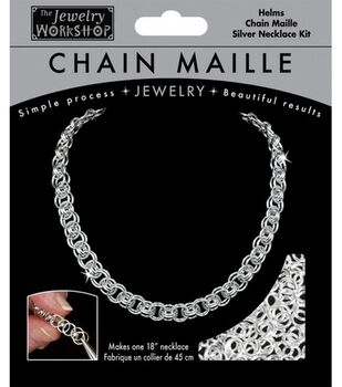 Chain Maille 18'' Helms Necklace Jewelry Kit-1PK/Silver