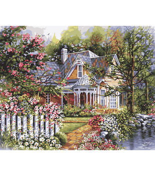 Plaid Paint By Number Kit 16''x20'' Victorian Garden