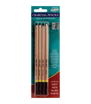 Proart Charcoal Pencils-4PK