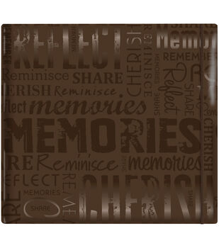 "MBI Gloss Scrapbook 12""X12""-Memories-Brown"