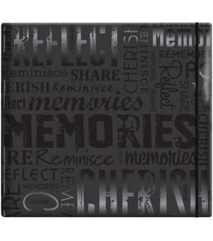 "MBI Gloss Scrapbook 12""X12""-Memories-Black"