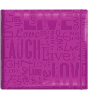 "MBI Gloss Scrapbook 12""X12""-Live Love Laugh-Bright Purple"